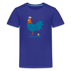 t-shirt crazy chick chicken bird bachelorette party night - Kids' Premium T-Shirt