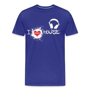 I LOVE HOUSE DARK HEAVYWEIGHT TEE - Men's Premium T-Shirt