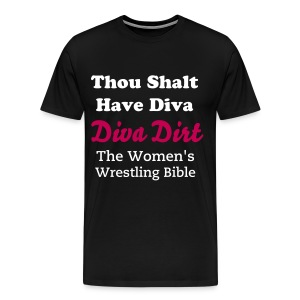 Thou Shalt Have Diva (men's heavyweight black) - Men's Premium T-Shirt