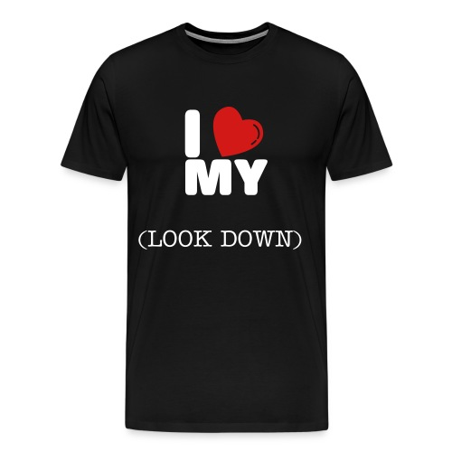 LOOK DOWN - Men's Premium T-Shirt