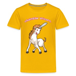 Chainsaw Unicorn for kids! - Kids' Premium T-Shirt