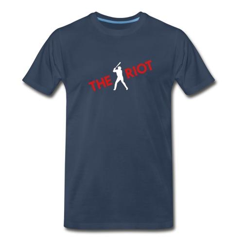THE RIOT cardinals (navy) - Men's Premium T-Shirt