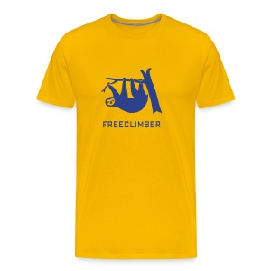 shirt sloth freeclimber climbing freeclimbing boulder rock mountain mountains hiking rocks climber - Men's Premium T-Shirt
