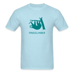 shirt sloth freeclimber climbing freeclimbing boulder rock mountain mountains hiking rocks climber - Men's T-Shirt