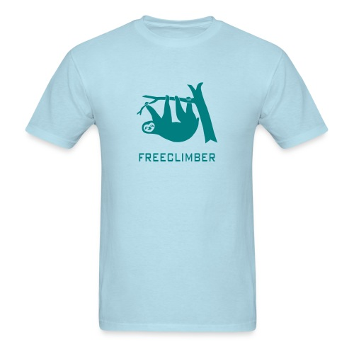 shirt sloth freeclimber climbing freeclimbing boulder rock mountain mountains hiking rocks climber - Men's T-Shirt