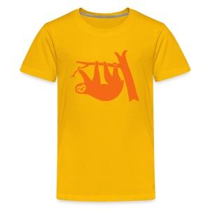 shirt sloth freeclimber climbing freeclimbing boulder rock mountain mountains hiking rocks climber - Kids' Premium T-Shirt