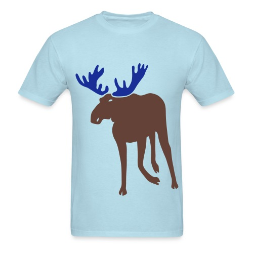 t-shirt stag deer moose elk antler antlers horn horns cervine hart bachelor party hunting hunter - Men's T-Shirt