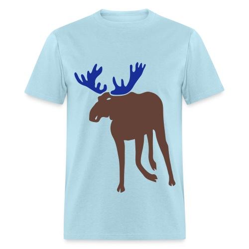 t-shirt stag deer moose elk antler antlers horn horns cervine hart bachelor party hunting hunter - Men's T-Shirt