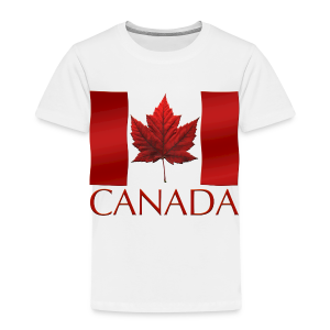 Canada Flag Souvenir Toddler's T-shirts Boys & Girls Canadian Souvenir Shirts - Toddler Premium T-Shirt