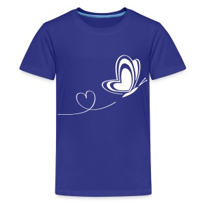 t-shirt butterfly love heart wings insect - Kids' Premium T-Shirt