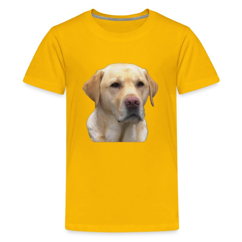 Yellow lab t shirt spreadshirt for Design lab create your own shirt