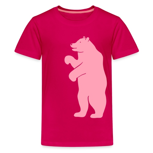 t-shirt bear beer berlin  strong hunter hunting wilderness grizzly predator animal t-shirt - Kids' Premium T-Shirt