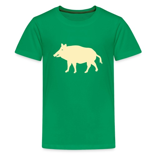 t-shirt wild boar hunter hunting forest animals nature pig rookie shoat - Kids' Premium T-Shirt
