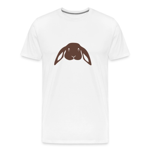 t-shirt rabbit bunny hare ears easter cute puss prey - Men's Premium T-Shirt