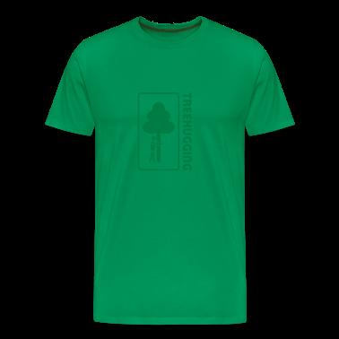treehugging tree hug treehugger trees forest natur T-Shirts