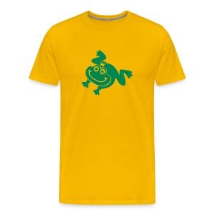t-shirt frog princess prince kiss me toad squib paddock pout frogmouth mouth lips - Men's Premium T-Shirt