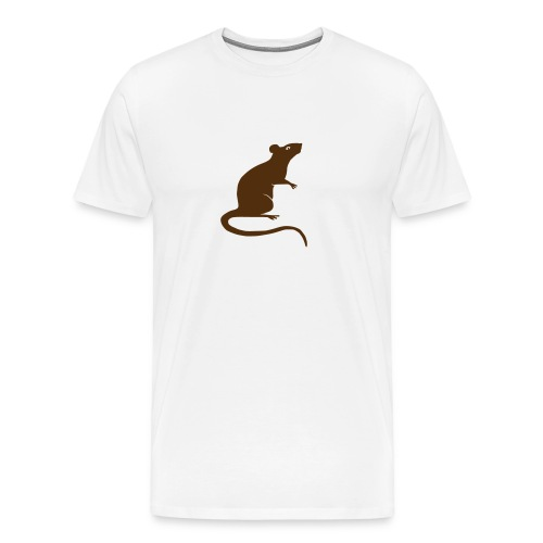 t-shirt rat rats duo ratty mouse mice animal - Men's Premium T-Shirt