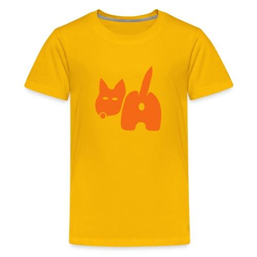 t-shirt dog ass wave tail behind comic petblow dog t-shirt - Kids' Premium T-Shirt