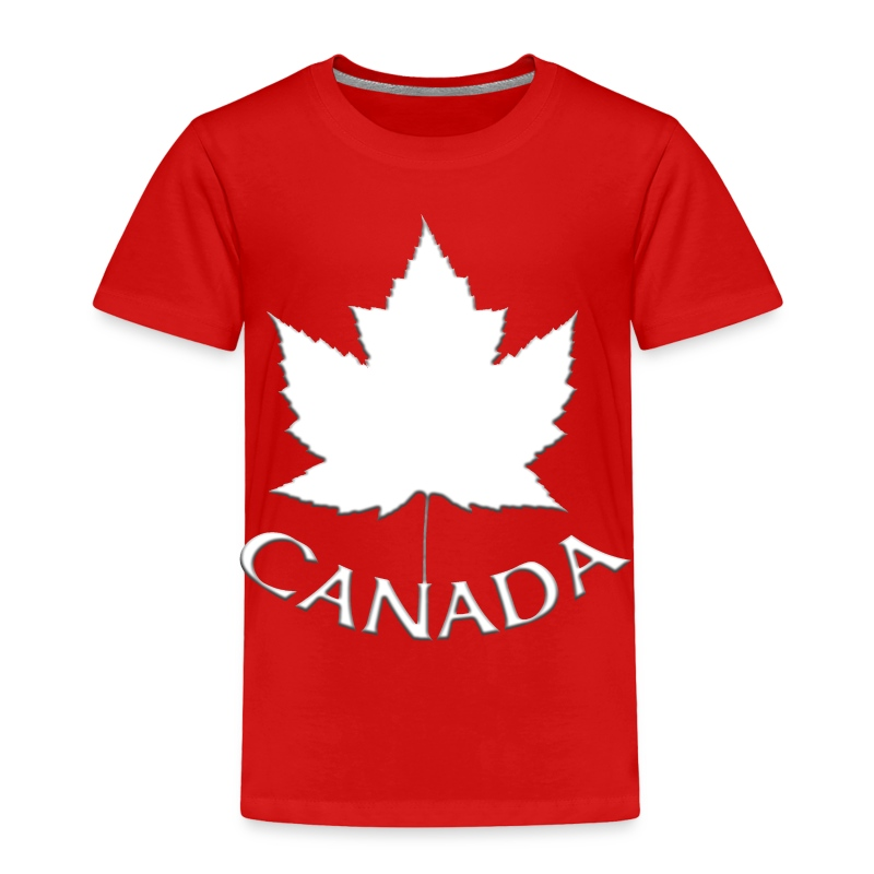 Kid's Canada Souvenir T-shirt Toddler Canada T-shirt - Toddler Premium T-Shirt