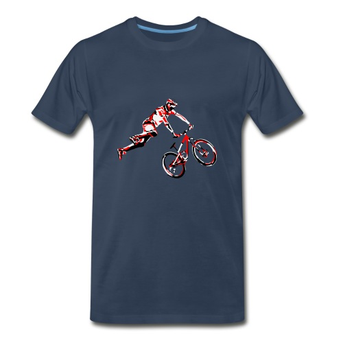 MTB Shirt - Dirt Bike Design - Men's Premium T-Shirt