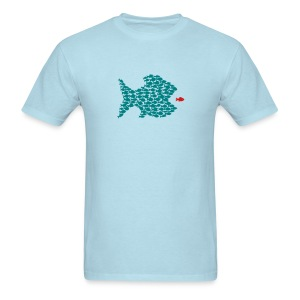 t-shirt fish swarm puffer fish blowfish pregnant hunt hunter ocean hunting fishing - Men's T-Shirt
