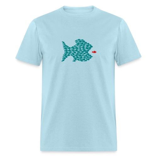 t-shirt fish swarm puffer fish blowfish pregnant hunt hunter ocean hunting fishing - Men's T-Shirt