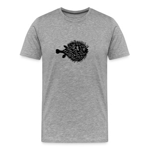 t-shirt fish swarm puffer fish blowfish pregnant hunt hunter ocean hunting fishing - Men's Premium T-Shirt