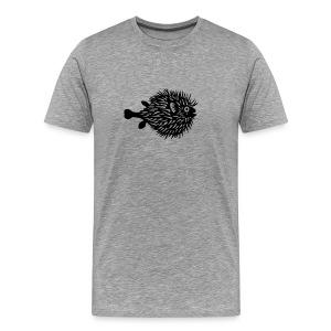t-shirt fish swarm puffer fish blowfish pregnant hunt hunter ocean hunting fishing - Men's Premium T-Shirt