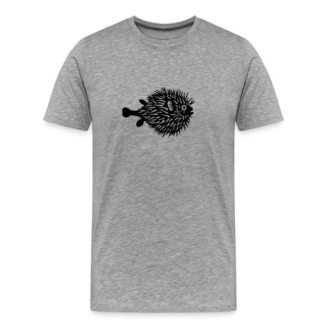 t-shirt fish swarm puffer fish blowfish pregnant hunt hunter ocean hunting fishing