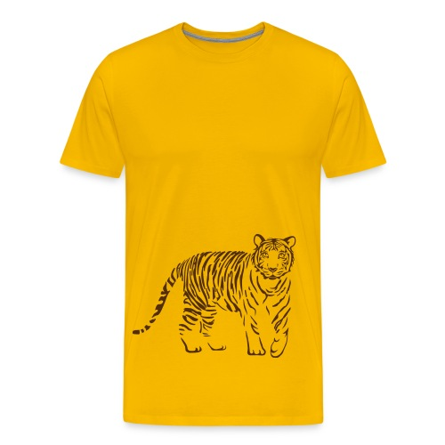 t-shirt tiger cat cheetah lion wild predator hunter hunting - Men's Premium T-Shirt