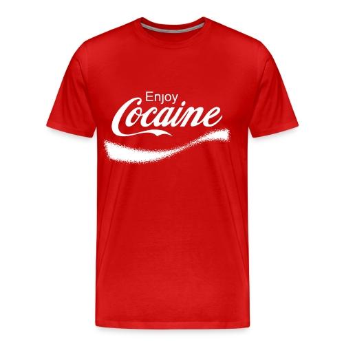 Enjoy Cocaine - Men's Premium T-Shirt