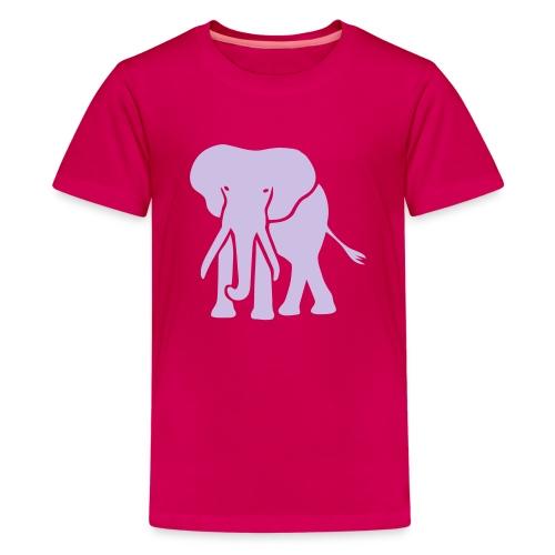 t-shirt elephant trunk ivory afrika serengeti - Kids' Premium T-Shirt