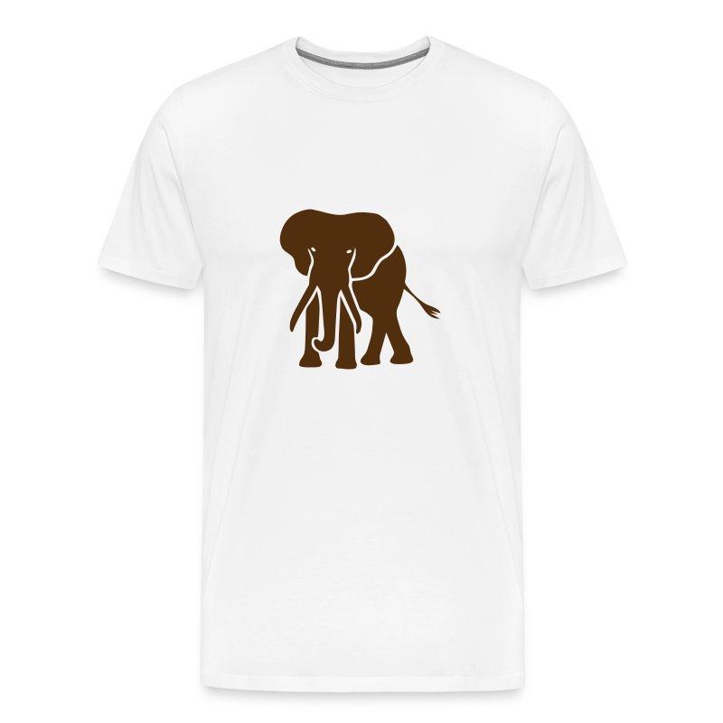 t-shirt elephant trunk ivory afrika serengeti - Men's Premium T-Shirt