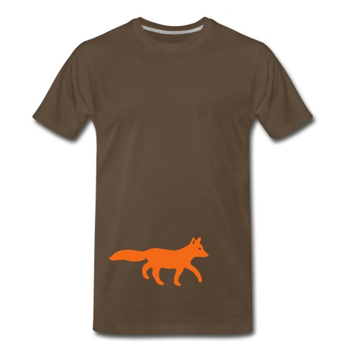 t-shirt fox foxy tod readhead game hunter hunting - Men's Premium T-Shirt
