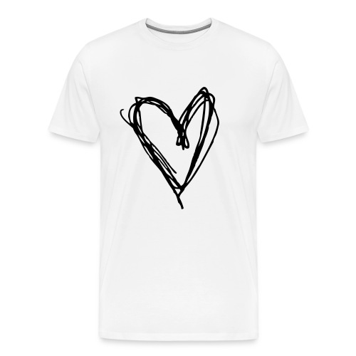 Zebra Heart - Men's Premium T-Shirt