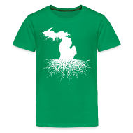 Kids' Shirts ~ Kids' Premium T-Shirt ~ Michigan Roots Children's T-Shirt