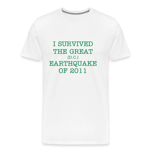 EARTHQUAKE - TEXT ONLY (Male) - Men's Premium T-Shirt