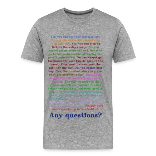 Any questions? - Men's Premium T-Shirt