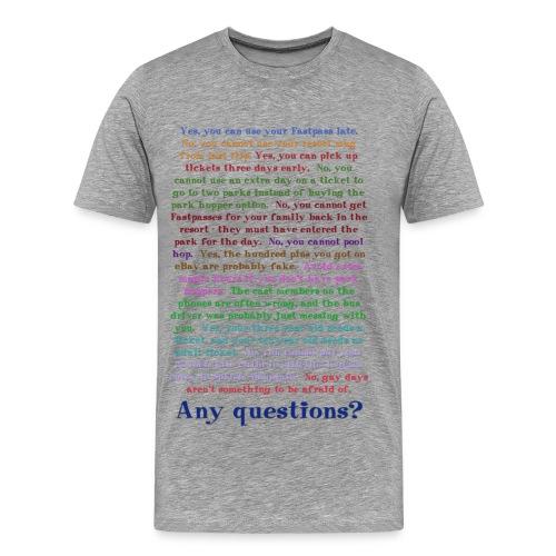 Any questions? - Men's Premium T-Shirt