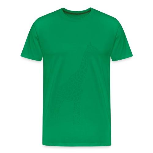 t-shirt giraffe afrika serengeti camelopard safari zoo animal wildlife desert - Men's Premium T-Shirt