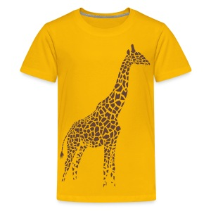 t-shirt giraffe afrika serengeti camelopard safari zoo animal wildlife desert - Kids' Premium T-Shirt