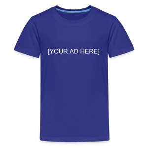 Human Billboard [YOUR AD HERE] - Kids' Premium T-Shirt