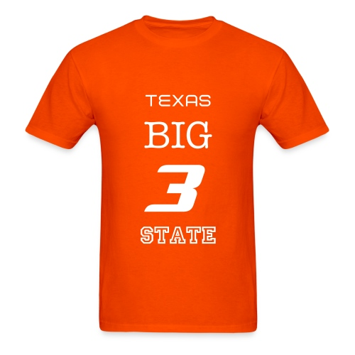 Texas Big 3 State T-Shirt - Men's T-Shirt