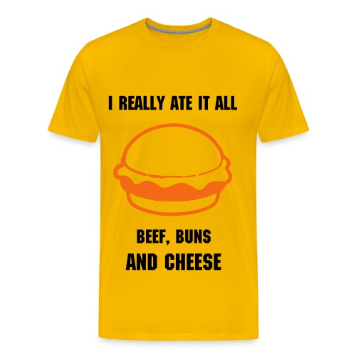 Beef and Buns and Cheese Tee - Men's Premium T-Shirt