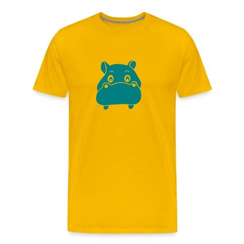 t-shirt hippo hippopotamus river horse afrika - Men's Premium T-Shirt
