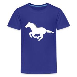 t-shirt pony horse i love horses unbridled wild  mustang unbridled rider equestrian horsemen horseman horseback - Kids' Premium T-Shirt