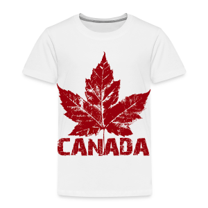 Cool Canada Souvenir Baby Shirt Distressed Maple Leaf Top for Kids & Baby - Toddler Premium T-Shirt