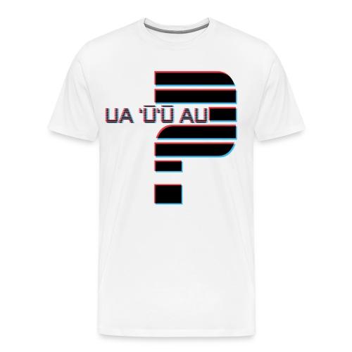 Hawaiian - Did I Stutter? 3D Anaglyph - Men's Premium T-Shirt