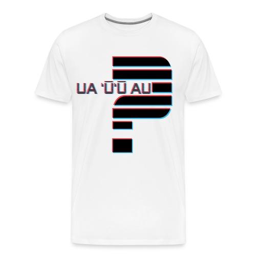 Hawaiian - Did I Stutter? 3D Anaglyph 3XL - Men's Premium T-Shirt