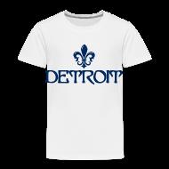 Baby & Toddler Shirts ~ Toddler Premium T-Shirt ~ Fleur De Lis Detroit Toddler T-Shirt